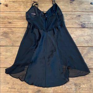 Victoria's Secret Intimates & Sleepwear - Victoria's Secret Black Silk and Chiffon Nightgown